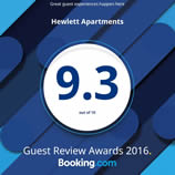 Booking.com Guest Review 9.3 Hewlett Apartments