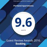 Booking.com Guest Review 9.6 Portland Apartments